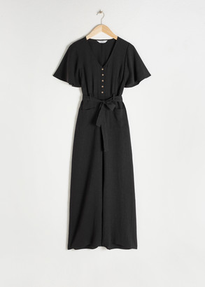 And other stories Lyocell Linen Blend Jumpsuit