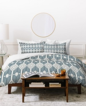 Deny Designs Heather Dutton West End Midnight Linen Queen Duvet Set Bedding