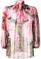 Dolce & Gabbana rose print chiffon blouse - women - Silk - 44