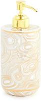 Jonathan Adler Malachite Lotion Pump - White & Gold