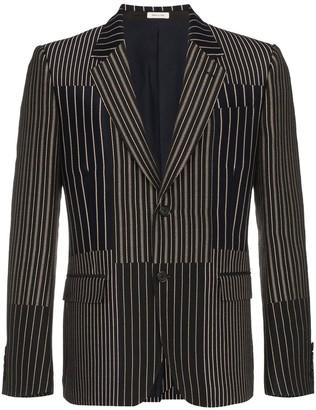 Alexander McQueen Patchwork Striped Blazer