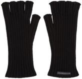 John Lawrence Sullivan Johnlawrencesullivan Black Wool Fingerless Gloves