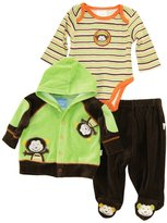 Duck Duck Goose Duck Goose Baby Boys' Mommy's Cute Monkey Cardigan Jacket Bodysuit 3Pc Pant Set