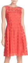Ellen Tracy Women's Windowpane Check Fit & Flare Dress