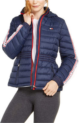 Tommy Hilfiger Cinched-Waist Quilted Puffer Jacket