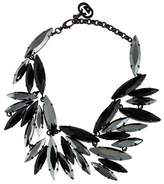 Gucci Ruthenium Plated Crystal Collar Necklace