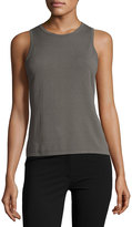 Theory Fitted Crewneck Tank, Army