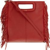Maje The M leather cross-body bag
