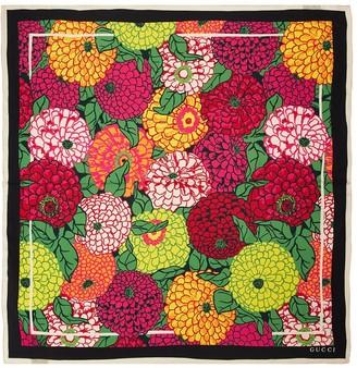 Gucci Pomposa Print Silk Twill Scarf