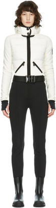 MONCLER GRENOBLE Black and White Down Belted Jumpsuit