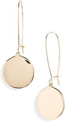 Halogen Polished Medallion Drop Earrings