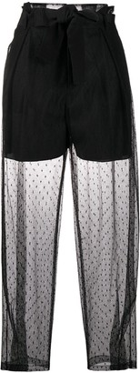 RED Valentino Point d'esprit tulle belted pants