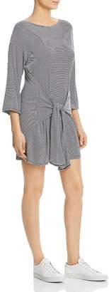 Elan International Striped Tie-Front T-Shirt Dress