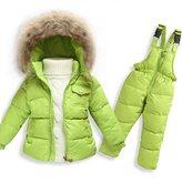 MIQI Baby Boys' Girls' Long Sleeves Ultralight Winter Puffer Jacket Two-piece set (4T, )