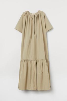 H&M Silk-blend Dress - Beige