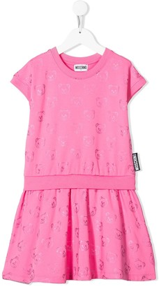 MOSCHINO BAMBINO Teddy Bear Print Dress