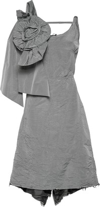 Miu Miu Taffeta dress with bow and rose
