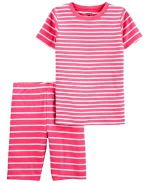 Carter's Big Boys or Girls 2 Piece Striped Snug Fit Pajama Set