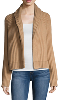 Vince Wool Open Front Cropped Cardigan