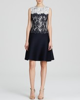 Tadashi Shoji Dress - Sleeveless Lace Pintuck Skirt