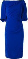Talbot Runhof gathered dress - women - Polyester/Triacetate/Viscose - 34