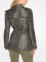 MICHAEL Michael Kors Floral Satin Jacquard Trench Coat