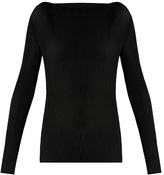 Raey Long-sleeved pleated-jersey top