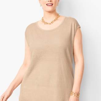 Talbots High-Low Linen Sweater