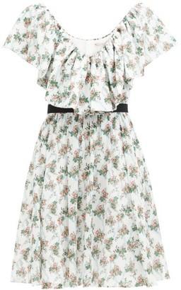 Emilia Wickstead Juniper Floral-print Cotton-voile Dress - White Multi