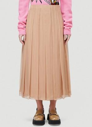 Gucci Chiffon Pleated Midi Skirt