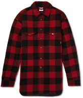 Vetements Oversized Checked Wool-Blend Shirt