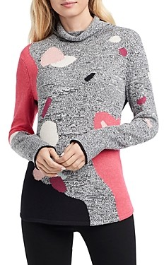 Nic+Zoe Petites Abstract Intarsia Sweater