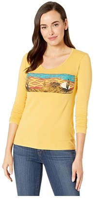 Rock and Roll Cowgirl Long Sleeve Top 48T2877 (Mustard) Women's Clothing