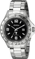 Croton Men's CA301253SSBK Aquamatic Extreme Analog Display Japanese Quartz Silver Watch