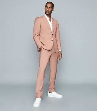 Reiss Fantasy - Wool Blend Single-breasted Blazer in Pink