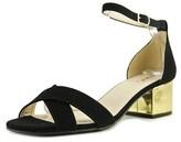 Qupid Jaden Women Open Toe Leather Black Sandals.