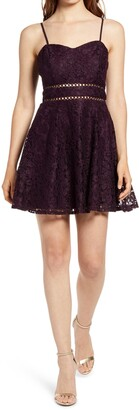 Speechless Lace Fit & Flare Dress