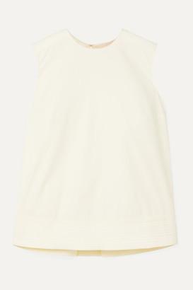 Roksanda Leya Oversized Pleated Cotton-poplin Top - Off-white