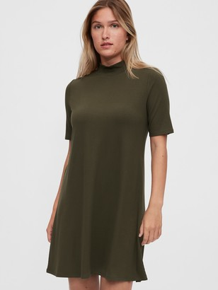 Gap Mockneck Swing Dress