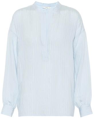 Vince Drapey Stripe jacquard blouse