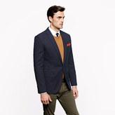Ludlow Single-button blazer in herringbone Italian pima cotton