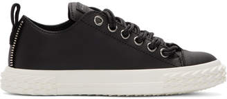 Giuseppe Zanotti Black Leather Blabber Sneakers