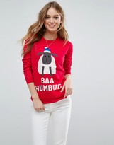 Brave Soul Baa Humbug Sheep Holidays Sweater