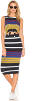 KENDALL + KYLIE Multi Stripe Tie Waist Dress