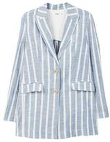 MANGO Striped linen blazer