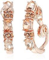 Anne Klein Rose Gold-Tone C Hoop Clip-On Earrings