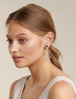 Forever New Natalia Wrapped Oval Drop Earrings - Blue - 00
