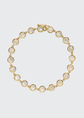 "Irene Neuwirth 18k Yellow Gold Moonstone Bracelet, 7""L"