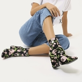 Public Desire Cleo Embroidered Floral Ankle Boots
