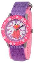 Sesame Street Girls' Stainless Steel Time Teacher Watch - Purple